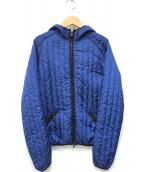 ()の古着「ナイロン中綿ジャケット」|ブルー