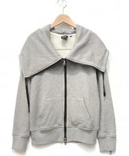 DOUBLE STANDARD CLOTHING (ダブルスタンダードクロージング) 30/7度詰め裏毛パーカー グレー サイズ:38