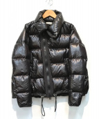 ()の古着「ハイネックデザインジップダウンジャケット」|ブラック