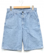 ()の古着「デニムハーフパンツ」|ブルー