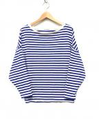 RIAM PLAGE(リアム プラージュ)の古着「FEMININEボーダーTシャツ」 ブルー