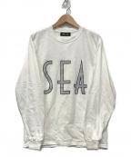 WIND AND SEA(ウィンダンシー)の古着「SEA (wavy) L/S T-SHIRT」|ホワイト