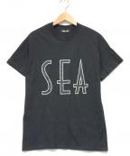 WIND AND SEA(ウィンダンシー)の古着「SEA (wavy) T-SHIRTS」|ブラック