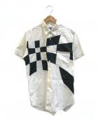 BLACK COMME des GARCONS(ブラックコムデギャルソン)の古着「チェッカーS/S シャツ」 ホワイト