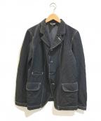 BLACK COMME des GARCONS(ブラックコムデギャルソン)の古着「縮絨ポリギャバカラーステッチジャケット」 ブラック