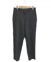 COMME des GARCONS SHIRT(コムデギャルソンシャツ)の古着「[OLD]ストライプパッカリングウールスラックス」|グレー