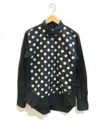 BLACK COMME des GARCONS(ブラックコムデギャルソン)の古着「ドット切替シャツ」 ブラック