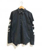 BLACK COMME des GARCONS(ブラックコムデギャルソン)の古着「カッティングデザインスリーブシャツ」 ブラック