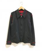 COMME des GARCONS HOMME(コムデギャルソンオム)の古着「メッシュドッキングジップアップジャケット」 ブラック