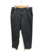 BLACK COMME des GARCONS(ブラックコムデギャルソン)の古着「スター柄ポリ縮絨サルエルパンツ」 ブラック