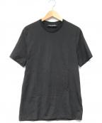 NEIL BARRETT(ニールバレット)の古着「マーセライズコットンクルーネックTシャツ」 ブラック