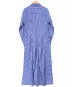 ()の古着「ストライプシャツワンピース」|ブルー