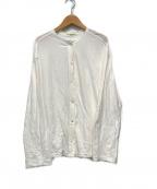 THE SHINZONE(ザ シンゾーン)の古着「ハイツイストコットンカーディガン」|ホワイト