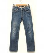 JACOB COHEN(ヤコブコーエン)の古着「ローライズスリムデニムパンツ」|ブルー