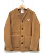 ()の古着「ウールモッサノーカラーシングルジャケット」|キャメル