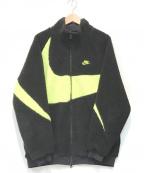 NIKE()の古着「ビッグスウオッシュジャケット」|ブラック×イエロー