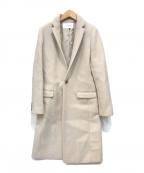 LE CIEL BLEU(ルシェルブルー)の古着「Soft Melton Chester Coat」|ベージュ