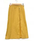 LE CIEL BLEU(ルシェルブルー)の古着「Pleated Insert Skirt」 イエロー