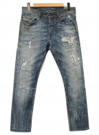 DIESEL()の古着「ダメージ加工ジョグジーンズ」|インディゴ