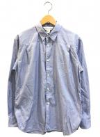 COMME des GARCONS SHIRT()の古着「バックボタンデザインシャツ」|ブルー