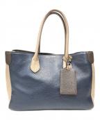 A.D.M.J.(エーディーエムジェイ)の古着「配色レザーハンドバッグ」|マルチカラー