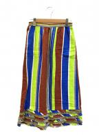 tricot COMME des GARCONS(トリココムデギャルソン)の古着「[OLD]バティックストライプフリルスカート」|マルチカラー