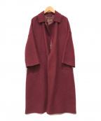 STUNNING LURE(スタニングルアー)の古着「ステンカラーオーバーコート」|ボルドー