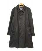 ()の古着「ステンカラーコート」 ブラック