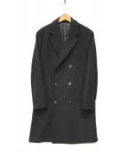()の古着「SOFT MELTON/ DB LONG TOP COAT」 ブラック