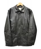 ()の古着「90Sシングルレザージャケット」 ブラック