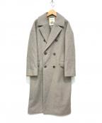 FRAMeWORK(フレームワーク)の古着「HAMILTONウール ダブルブレストコート」|グレー