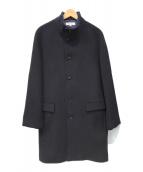 ()の古着「ダブルフェイスメルトンスタンドカラーコート」|ネイビー