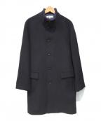 BEAUTY&YOUTH(ビューティアンドユース)の古着「ダブルフェイスメルトンスタンドカラーコート」|ネイビー