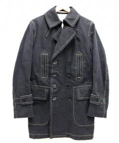 Scye(サイ)の古着「コットントレンチコート」|ブラック