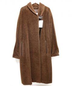 MaxMara(マックスマラ)の古着「アルパカ混コート」|ブラウン