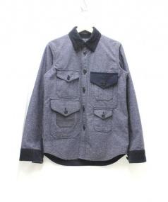 COMME des GARCONS HOMME(コムデギャルソンオム)の古着「切替ハンティングシャツジャケット」 ブルー