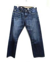 AG(エージー)の古着「EX-BF CROP デニム パンツ」|ブルー