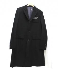 UNDER COVER(アンダーカバー)の古着「刺繍チェスターコート」 ブラック