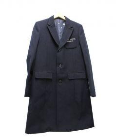 UNDERCOVER(アンダーカバー)の古着「刺繍チェスターコート」 ネイビー