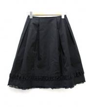 FOXEY_NEWYORK(フォクシーニューヨーク)の古着「ボリュームスカート」|ブラック
