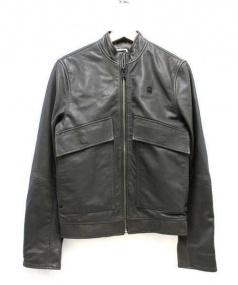 G-STAR RAW(ジースターロゥ)の古着「シングルライダースジャケット」 グレー