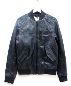 G-STAR RAW(ジースターロゥ)の古着「レザージャケット」 ネイビー