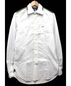 JUNYA WATANABE COMME des GARCONS MAN(ジュンヤワタナベ コムデギャルソン マン)の古着「カモフラ切替シャツ」|ホワイト×カーキ