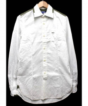 JUNYA WATANABE COMME des GARCONS MAN(ジュンヤワタナベ コムデギャルソン マン)の古着「カモフラ切替シャツ」 ホワイト×カーキ