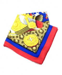 HERMES(エルメス)の古着「大判スカーフ」 ゴールド