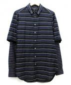 3.1 phillip lim(3.1 フィリップリム)の古着「レイヤードスリーブシャツ」|ブラック×ネイビー