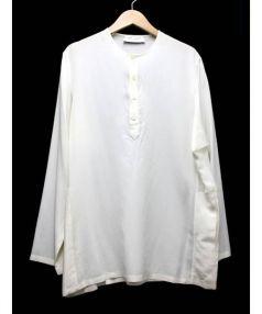 SAINT LAURENT PARIS(サンローラン パリ)の古着「ヘンリーネックシルクブラウス」 ホワイト