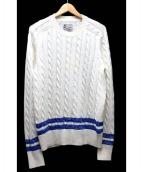 FilMelange(フィルメランジェ)の古着「ケーブルニット」|ホワイト×ブルー