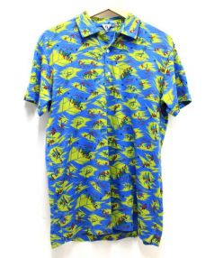 FilMelange(フィルメランジェ)の古着「ニットポロシャツ」|ブルー