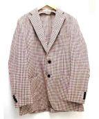 TOMORROW LAND(トゥモローランド)の古着「ギンガムチェックジャケット」 レッド×ブルー